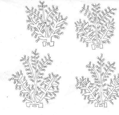 Grégoire Koutsandréou, Plante inventée 7, crayon sur Canson, 2019