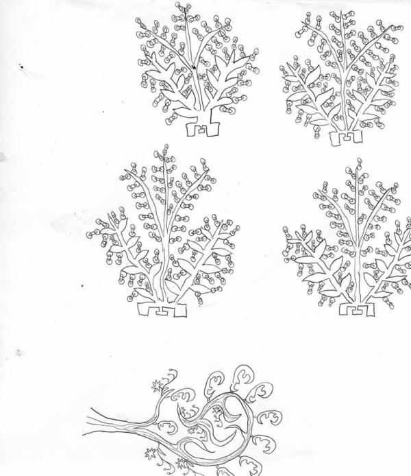 Grégoire Koutsandréou, Plante inventée 7, crayon sur Canson, 25x25 cm, 2019