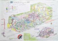 Gaël Dufrène. Crevé de locotracteur SCHNEIDER, 2014. Œuvre sur papier © Collection d'Art brut de Lausanne
