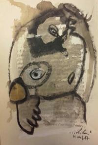 Leila Delasalle, Acrylique sur papier, 2018