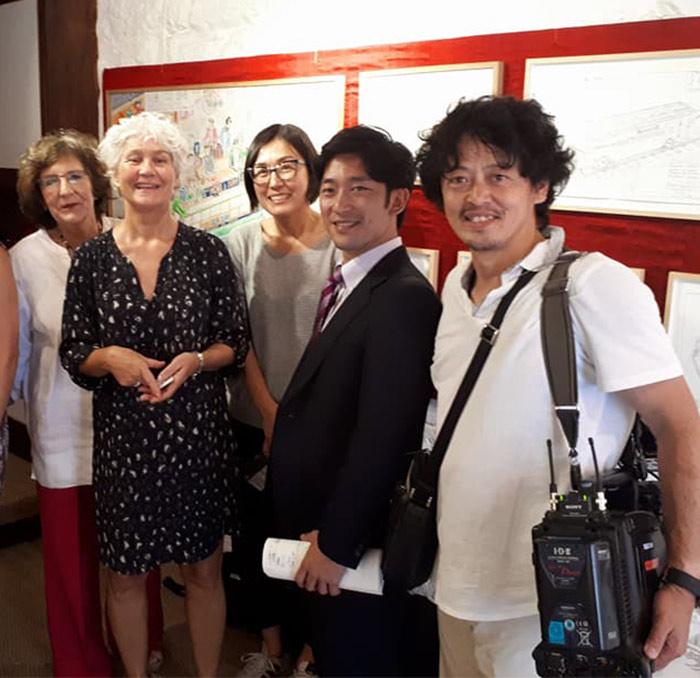 Tournage NHK Kyoto - La Fabuloserie Paris