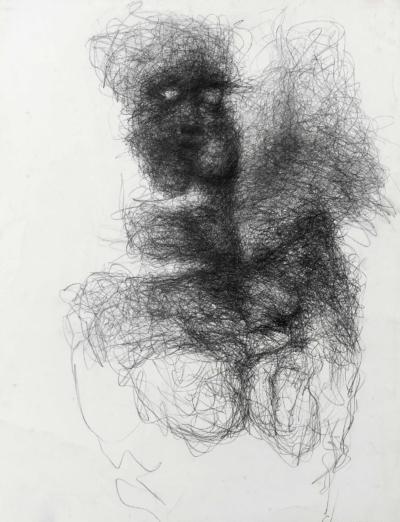 Claire LANCIEN, mine de plomb sur papier, 2018.