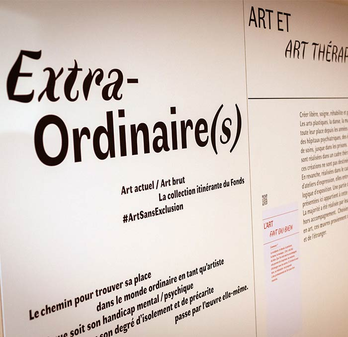 Exposition itinérante «Extra-Ordinaire(s)». Collection #ArtSansExclusion