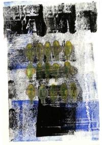 Hélène Fontana. Série Maillons. Impression, encres, feutres, aquarelle sur canson, 42x29,7 cm, 2019. 400€