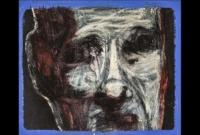 Jean-Charles Sankaré. Sans titre, huile et acryl/papier, 21x25cm. 2018. ©EgArt/Patrice Bouvier. 170€
