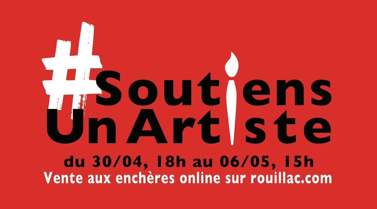 Vente aux enchères #SoutiensUnArtiste organisée par l'étude Rouillac du 30/04 au 06/05/2020