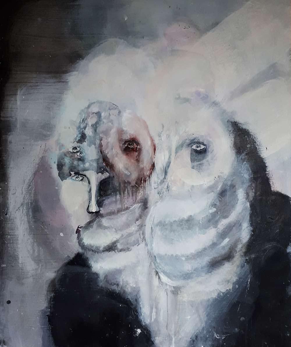 Edouard Cohen. Série Espace 1, 2012. Acryl toile.