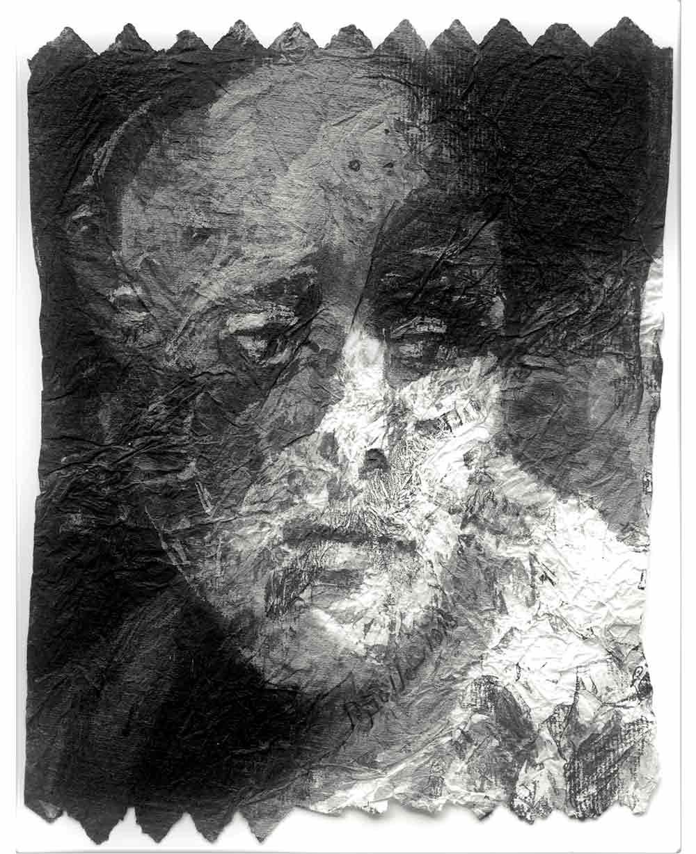 Hélène Galleron. L'assistante, 2018. lavis sur papier, 22X27cm