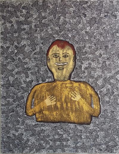 Jérome Turpin. Autoportrait Troisieme représentation de la prison mentale.