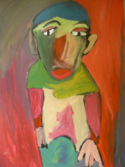 Sébastien Proust - SANS TITRE, 2009 acrylique sur papier 50x70 cm